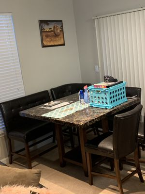 Kitchen table & benches for Sale in Rockville, MD