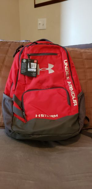 UNDER ARMOUR Red Back pack new with tag for Sale in Port St. Lucie, FL