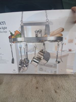 Country Kitchen Pot Rack w/Downlight for Sale in Fowler, IN