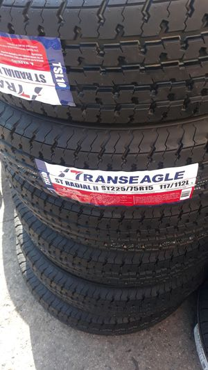 4 new tires st225 75 r15 trailer 10ply tires$250 for Sale in Fullerton, CA