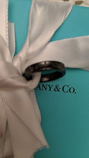 Tiffany & Co Black Titanium Ring Size 4 for Sale in McKeesport, PA