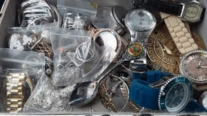 Watches Rings Bracelets Necklaces Earings Most are silver gold and diamonds for Sale in North Manchester, IN