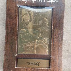 Shaq 24karat Gold Plaque Signatures for Sale in Houston,  TX