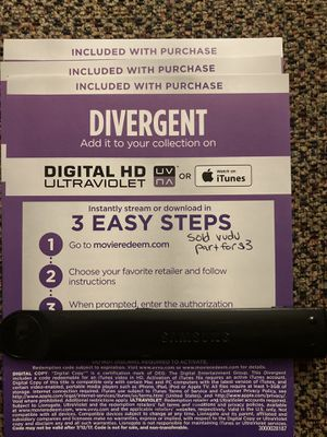 Divergent 4K digital code for Sale in Lynwood, CA
