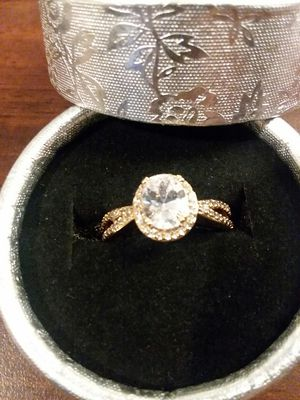 Beautiful GP Halo Cubic Zirconia Ring for Sale in The Bronx, NY