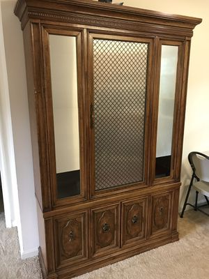 Wood cabinet for Sale in Alexandria, VA