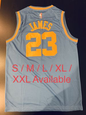 921fe6476fe9 Stitched LeBron James Lakers NBA Basketball Jersey 23 for Sale in Fontana