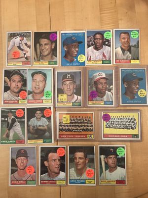 1961 TOPPS BASEBALL CARDS (18): HALL of FAMERS Included for Sale in Lafayette, CA