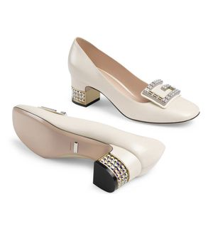 Gucci Ivory Crystal G Embellished Heels for Sale in Kirkland, WA