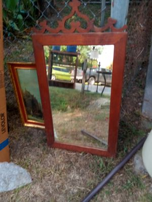 Antique wood mirror for Sale in Houston, TX