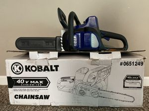 Kobalt Wireless Electric Chainsaw for Sale in Blacklick, OH