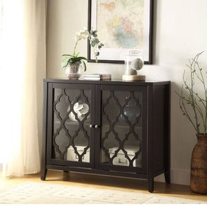 BLACK CONSOLE CABINET TABLE STORAGE - GABETA for Sale in Downey, CA