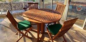 Wooden outdoor patio dining set for Sale in North Bethesda, MD