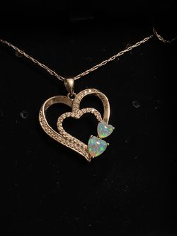 Opal Heart Necklace Never Worn for Sale in Nampa,  ID