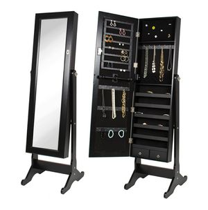 Mirrored Jewelry Cabinet Armoire w/ Stand Rings, Necklaces, Bracelets for Sale in Hidden Hills, CA