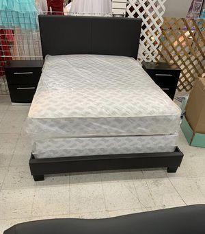 5 PCS BEDROOM SET NEW IN BOX FULL or QUEEN JUEGO DE HABITACIÓN TODO NUEVO EN SU CAJA - BED SET ( BED, MATRESS, BOX SPRING, 2 NIGHT STAND) for Sale in Hialeah, FL