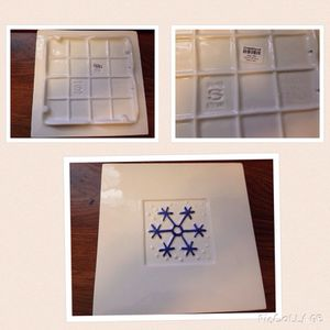 """Crate & Barrel 8"""" square snowflake trivet """"made in Italy"""" for Sale in North Bethesda, MD"""