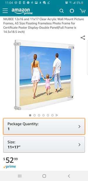 E60 - 11 x 17 or 12 x 16 Acrylic Wall Frame for Sale for sale  Orange, CA