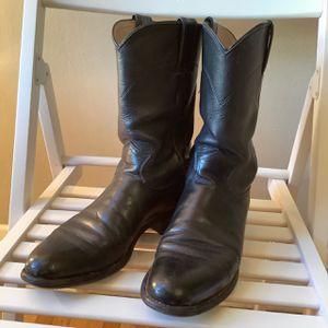 Justin black cowboy boots for Sale in Denver, CO
