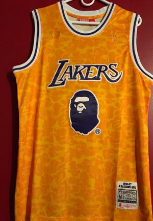 BAPE x Mitchell & Ness Lakers for Sale in Rosemead, CA