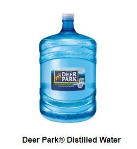 FREE Deer Park Distilled Water, New and Unopened, Two 5-Gallon Bottles