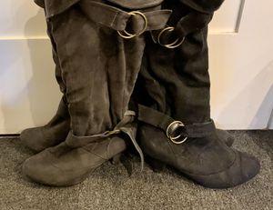 Black & Dark Grey Boots (~6.5; heels are worn down) for Sale in Washington, DC