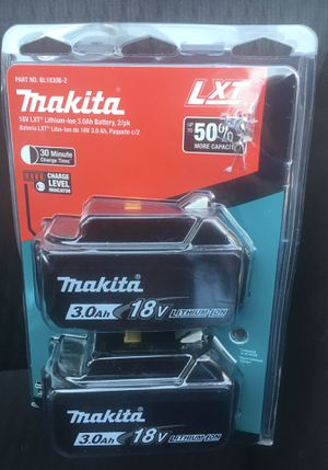 Makita 18-Volt LXT Lithium-Ion High Capacity Battery Pack 3.0Ah with Fuel Gauge (2-Pack) for Sale in Lake Elsinore, CA