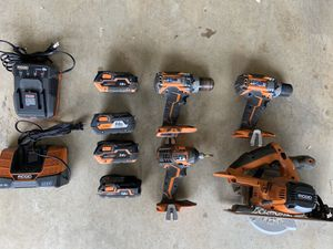 Rigid hammer drills, saw and batteries for Sale in Prosper, TX