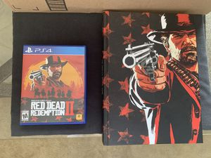 RED DEAD REDEMPTION 2 - for PS4 with POSTER MAP AND COLLECTORS EDITION HARD COVER GUIDE for Sale in TEMPLE TERR, FL