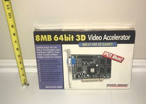 New 8MB 64 Bit 3 D video accelerator just $5 for Sale in Port St. Lucie, FL