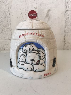2005 coca-cola polar bear igloo cookie jar for Sale in West Palm Beach, FL