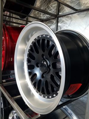 15x8 big lip satin black wheels fits honda vw rims for Sale in Tempe, AZ