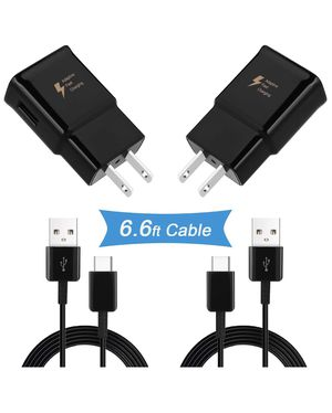 Adaptive Fast Wall Charger Compatible with Samsung Galaxy S10/ S10e/ S9/ S9+/ S8/ S8 Plus/Active/Note 9/ Note 8 and More with 6.6 Feet Type C Cable for Sale in Boston, MA