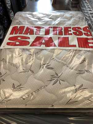 full pillow top mattress with boxspring for Sale in San Bernardino, CA