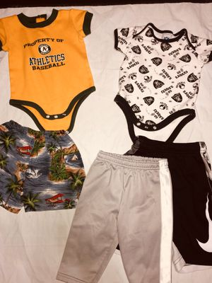 Toddler (3-6m) A's Raiders onesie + bottoms for Sale in Byron, CA