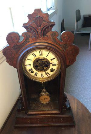 Antique Victorian Walnut Parlor Clock $150 for Sale in Atlanta, GA