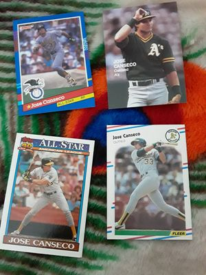 Jose canseco cards for Sale in San Jose, CA