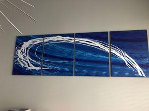 Wall art - 4 panel blue for Sale in Lorton, VA