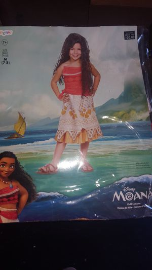 Kids Moana costume and Wig for Sale in Moon, PA