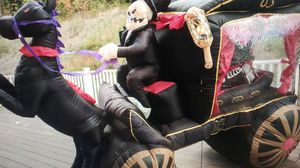 Gemmy inflatable halloween hearse horse carriage decoration for Sale in Murrieta, CA