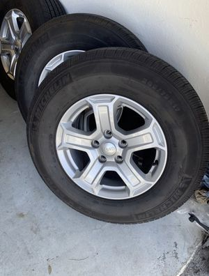 Jeep Wheels - NEW OEM with New Michelin Tires for Sale in Tampa, FL