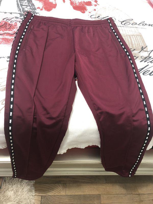 Pink track pants