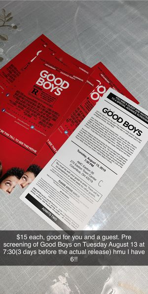 Good Boys Pre-Screening for Sale in Columbus, OH