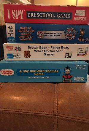 Games for little kids - I Spy, Paw Patrol, Brown Bear, Thomas Game for Sale in Los Angeles, CA