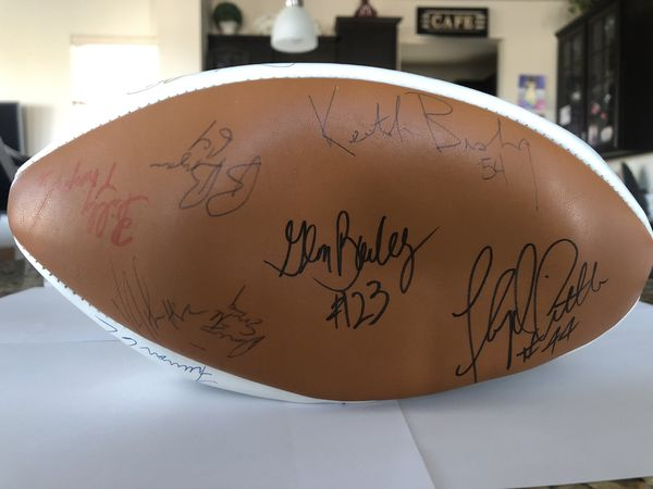 Autographed Denver Broncos Football COA from JSA included