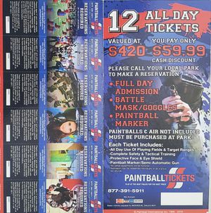 Paint ball tickets 12 for Sale in Eagle Lake, FL