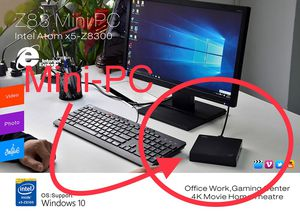 Mini Desktop PC with HDMI and VGA output dual screen capabilities, newest windows 10 OS; all you need is keyboard, mouse, and TV/projector/computer s for Sale in Houston, TX