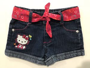 Girls Hello Kitty Toddler Denim Shorts Size 2T for Sale in Paramount, CA