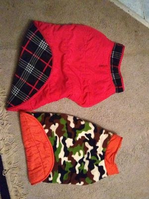 Dog coats. 2 lg dog, 2 med dog, 1 for Sale in Eau Claire, WI