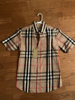Plaid Burberry Short Sleeve (Medium) for Sale in Alpharetta, GA